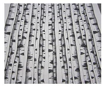 Tela De Algodón En Piezas De Abedul árbol Genealógico En Blanco O