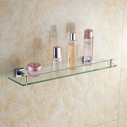 Leyden Wall Mount Solid Brass Material Bathroom Glass Shelf Lavatory ...