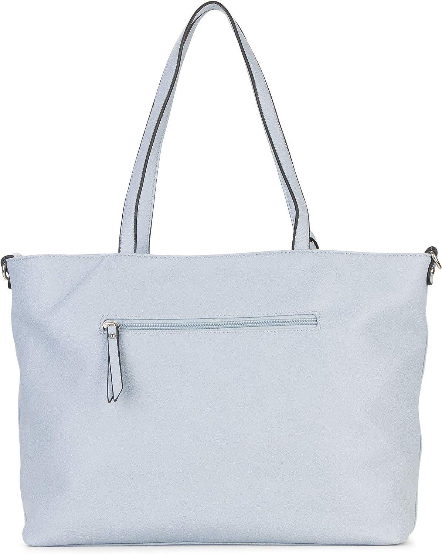 Emily & Noah Shopper Surprise 312 femmes sacs à main uni Lightblue 530