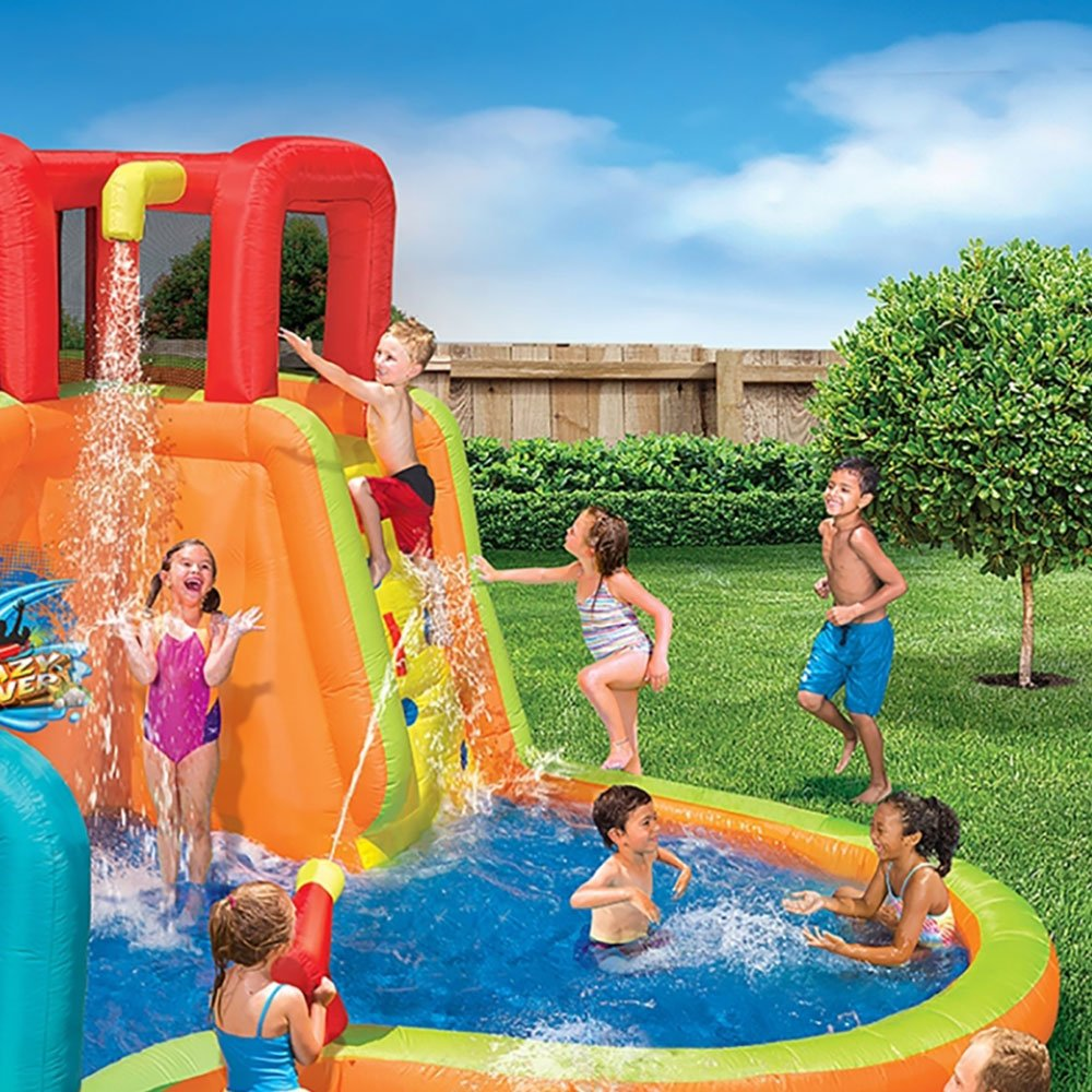 BANZAI Kids Inflatable Outdoor Lazy River Adventure Water Park Slide and Pool by BANZAI (Image #4)