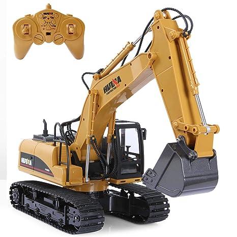 SGILE 15 Canales Completamente Funcional RC Excavadora, 1:14 Control Remoto Excavator Construction Tractor