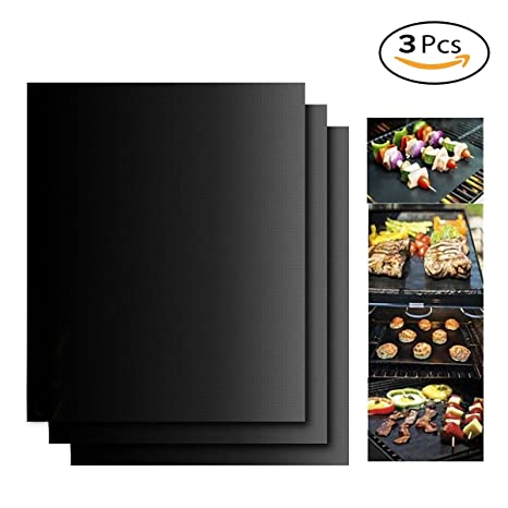 Aolvo Twisted Chef BBQ Grill Mats Antiadherente, Ideal para ...