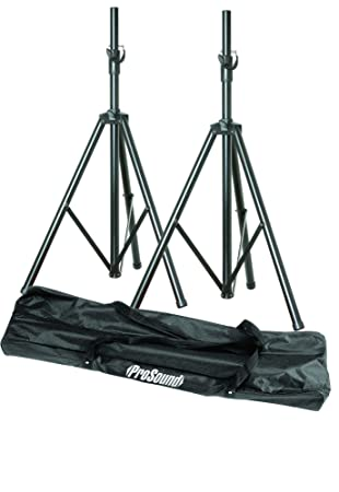 MAPLIN ProSound Twin Speaker Stands and Carry Bag 35mm Top Hat Mount 50kg  Load Capacity