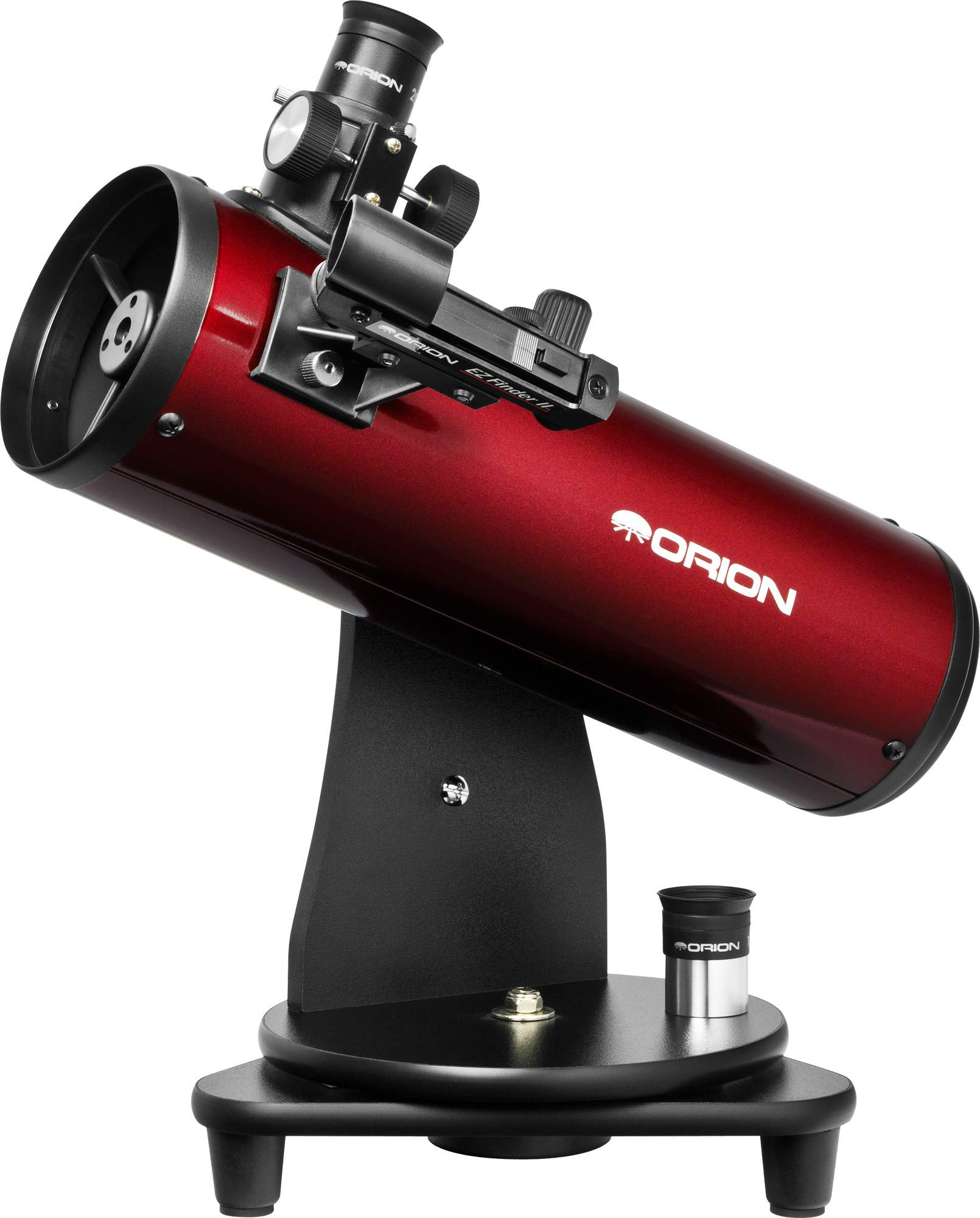 Orion 10012 SkyScanner 100mm TableTop Reflector Telescope (Burgundy) by Orion