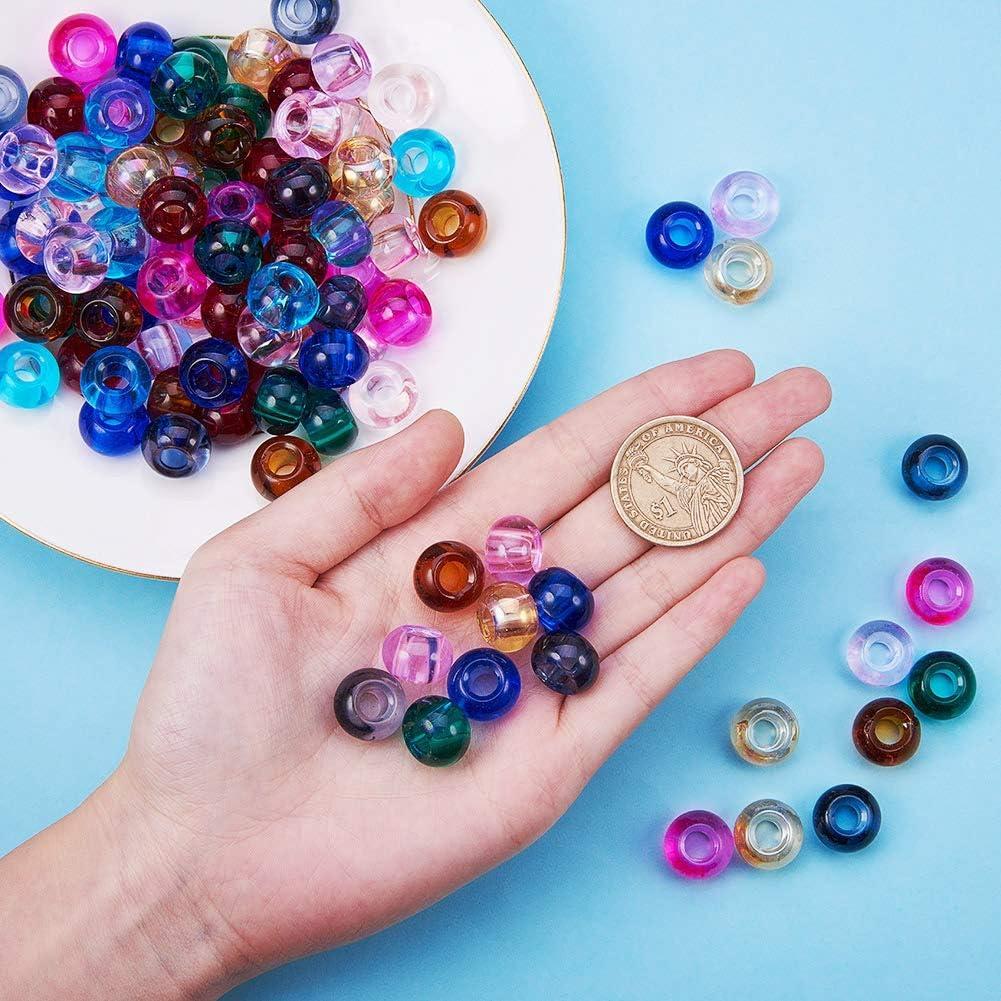 8/mm redondo couleur mixte 2 agujero: 1,3/mm cristal /Lote de 1/recinto Spray pintado transparente agrietado perlas de vidrio Pandahall/ 4 mm mezcla de colores