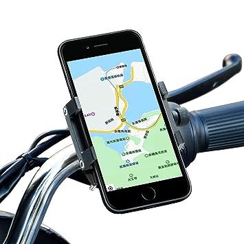 Aopan Soporte Móvil Bicicleta, Aluminio Soporte Móvil Moto con 360° de Rotación Ajustable para