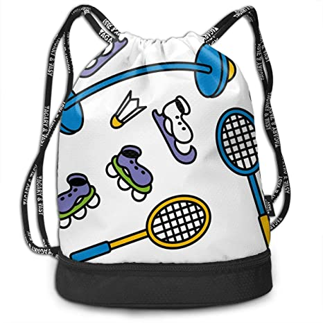 Amazon.com: OHMYCOLOR Bundle Backpacks Badminton Soccer ...