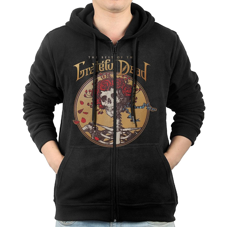 5c58a5de4a good Fashion Grateful Dead The Best Of The Grateful Dead Zip Hoodie  Sweatshirt Kangaroo Pocket For