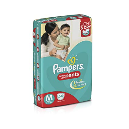 Buy Pampers Medium Size Diapers Pants Pack Of 56 Online At Low Prices In India