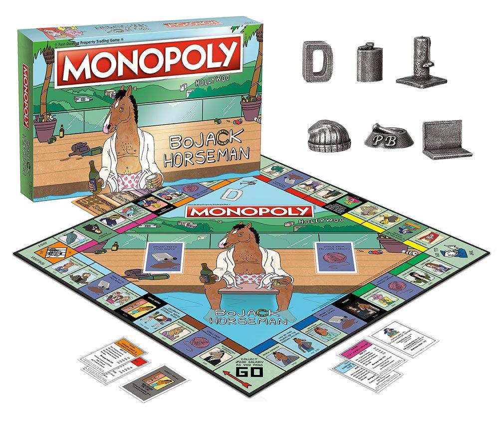 Amazon.com: Monopoly BoJack Horseman Board Game - Juego de ...