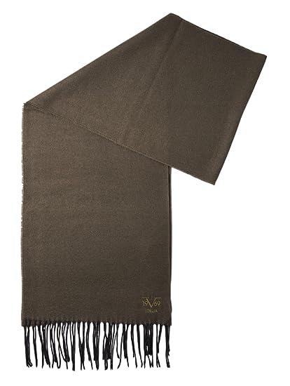 8a48bd1b46c6a0 V1969 by Versace 19.69 Echarpe Homme Cachemire laine viscose chaude douce  avec sa pochette cadeau couleur Kaki  Amazon.fr  Vêtements et accessoires