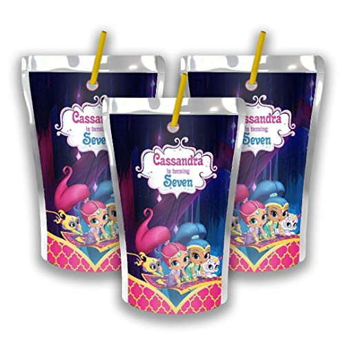 Amazon 12 Personalized Shimmer And Shine Juice Pouch Label