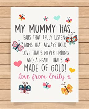 Personalised Presents Gifts For Step Mum Mummy Mother Grandma From