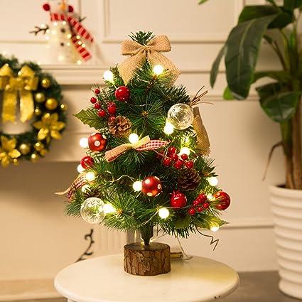 Albero Di Natale Artificiale Da Tavolo 50 Cm Con Luci Decorazione
