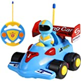 TONOR Race Car Remote Control Train Toy for Toddlers and Kids Blue