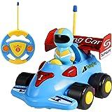 SGILE Tonor Toy, Lovely Cartoon Fl Car, Juguete Coche De Carreras para Niños, Azul