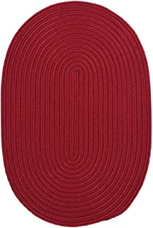 product image for Colonial Mills Boca Raton Braided Polypropylene Sangria 2'x8' Oval Rug