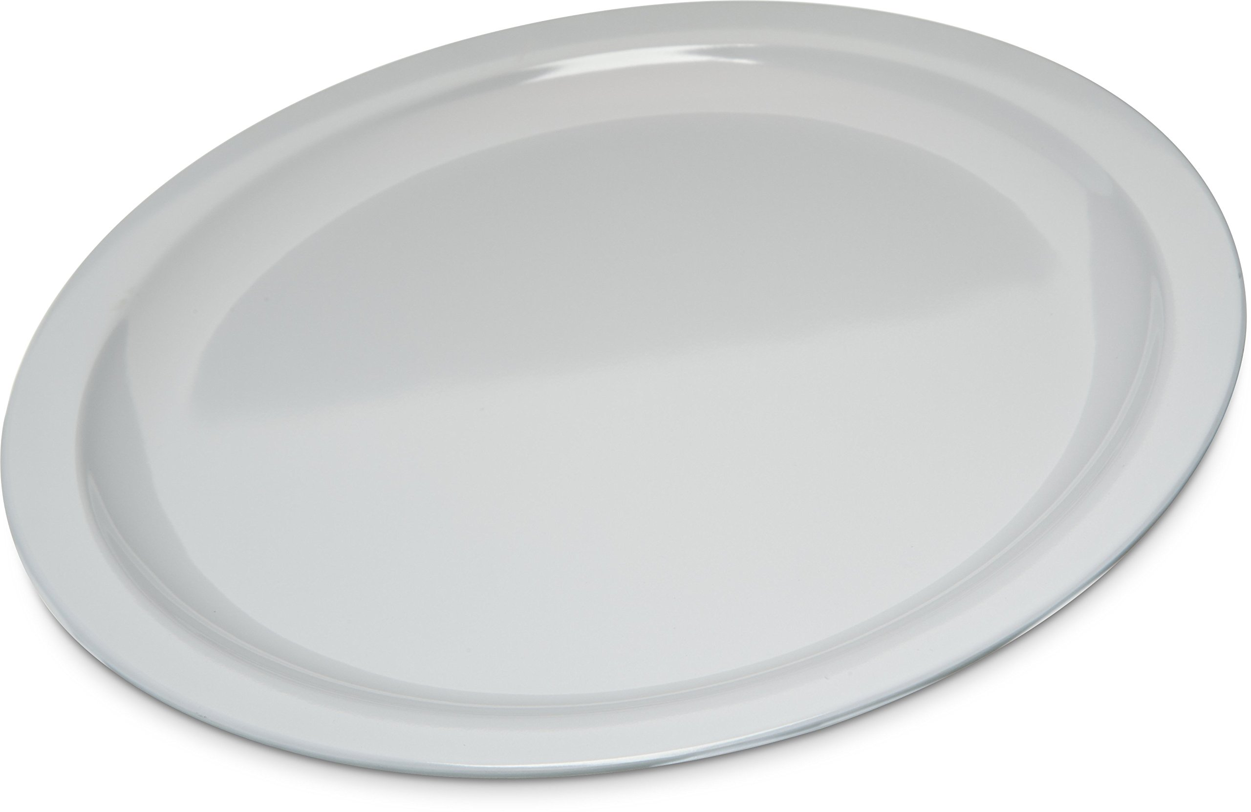 Carlisle KL11602 Kingline Melamine Dinner Plate, 10'' Diameter x 0.76'' Height, White (Case of 48)