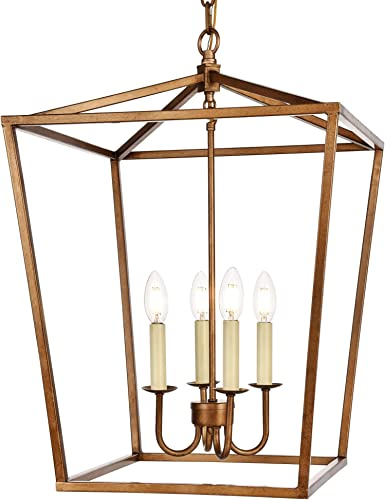 Elegant Lighting LD6008D17 Maddox 4 Light 17″ Wide Taper Candle Pendant