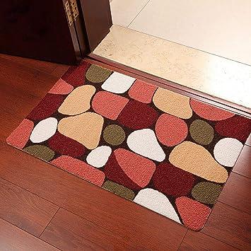 Enkoo Estera absorbente simple y suave de la estera del piso estera antideslizante del baño estera
