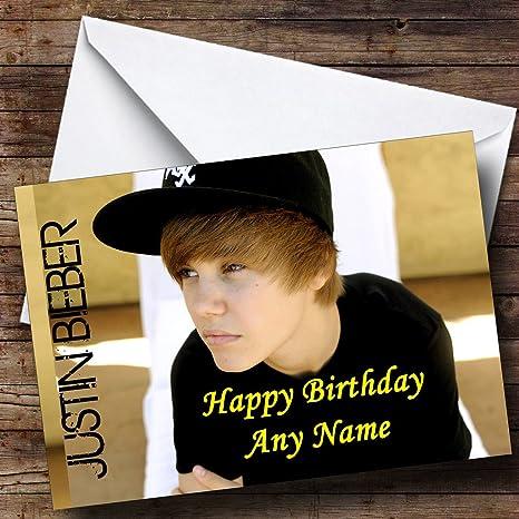 Justin Bieber Biglietto di auguri di compleanno, con ali: Amazon