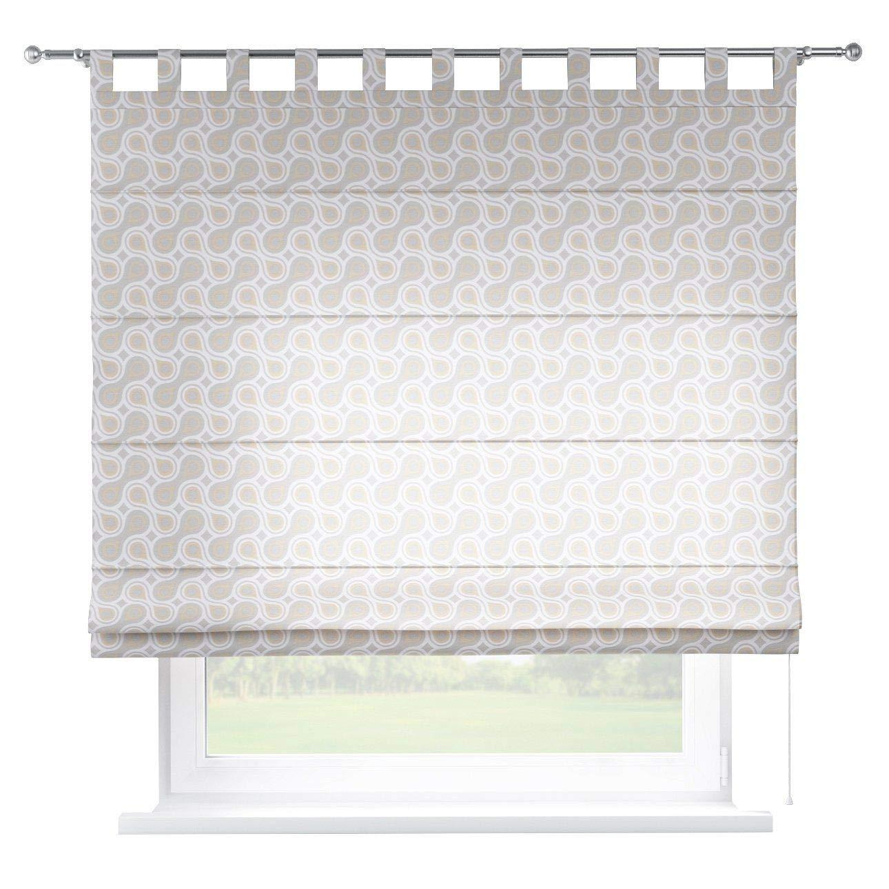 Dekoria Raffrollo Verona ohne Bohren Blickdicht Faltvorhang Raffgardine Wohnzimmer Schlafzimmer Kinderzimmer 160 × 170 cm grau Raffrollos auf Maß maßanfertigung möglich