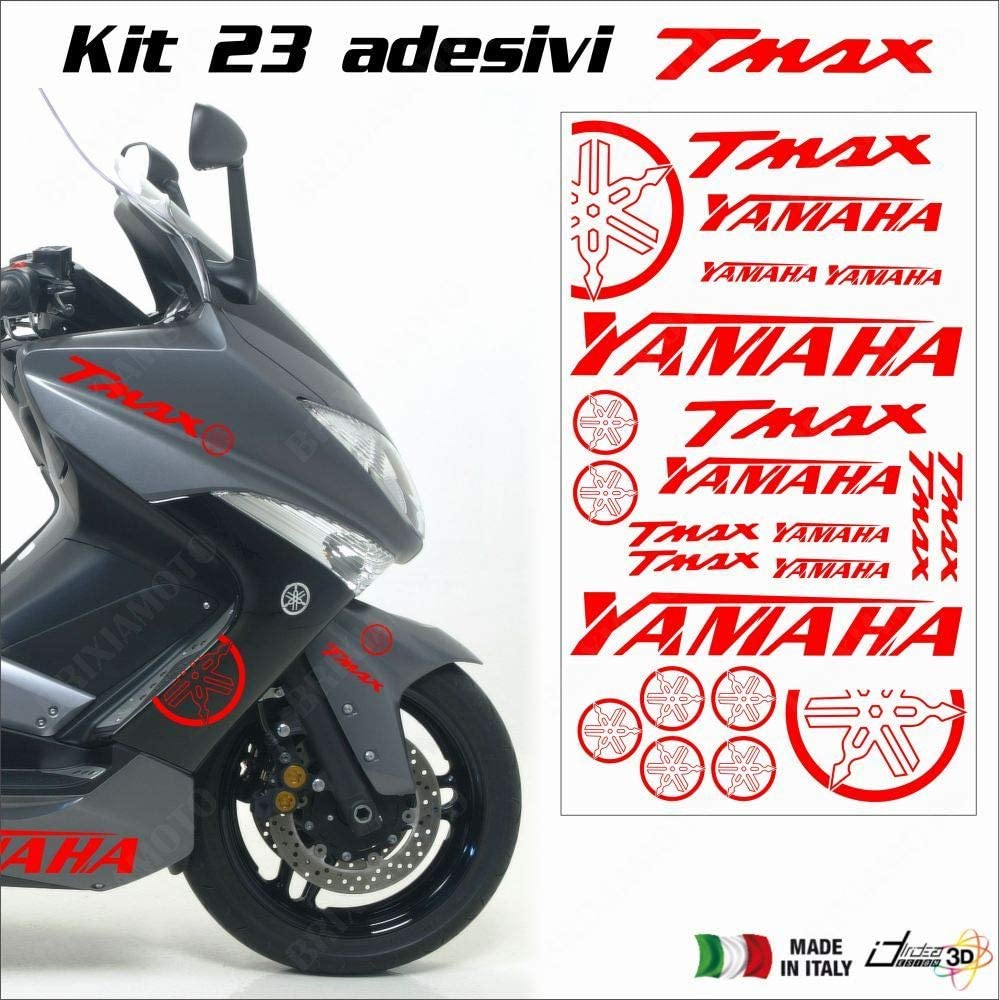 FEUILLE ADHESIFS CARENAGE ROUGE FITS YAMAHA T-MAX 500 01-11 T-MAX 530 12-18
