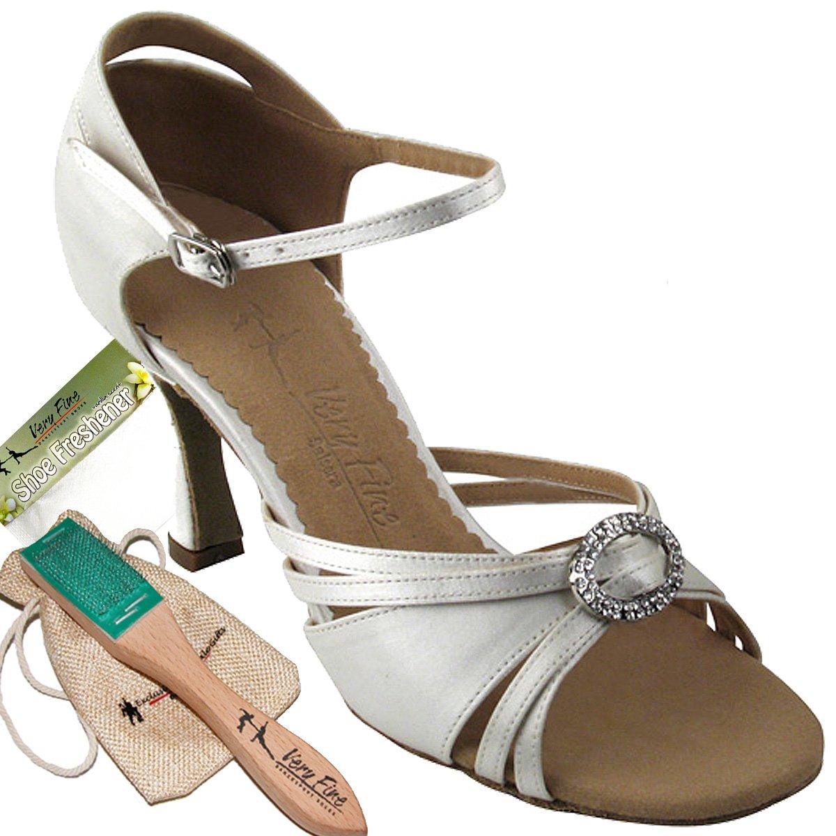 Women's Ballroom Dance Shoes Tango Wedding Salsa Dance Shoes Ivory Sera1154EB Comfortable - Very Fine 2.5'' Heel 6.5 M US [Bundle of 5]