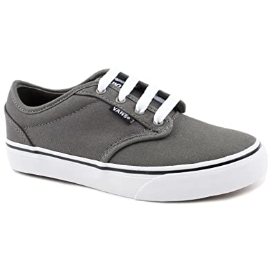 b9dc2facacb91e Boy Junior Vans Atwood Grey Canvas Trainers Size 6  Amazon.co.uk ...