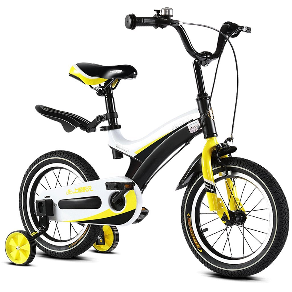 DGF 子供の自転車2-12歳の赤ん坊の子供のペダル自転車の少年の少女の赤ちゃんの運送 16 inches イエロー いえろ゜ B07FHY4KCQ