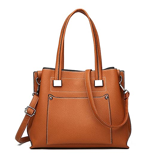 ef1d6ab77ee6 GWQGZ Modische Damen Handtasche Neue Europäische Und Amerikanische Tasche  Weibliche Handtasche. Braun
