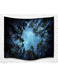 bedroom tapestry. Forest Starry Tapestry Wall Hanging Galaxy Hippie  Milky Way Sky Tree Tapestries Amazon com