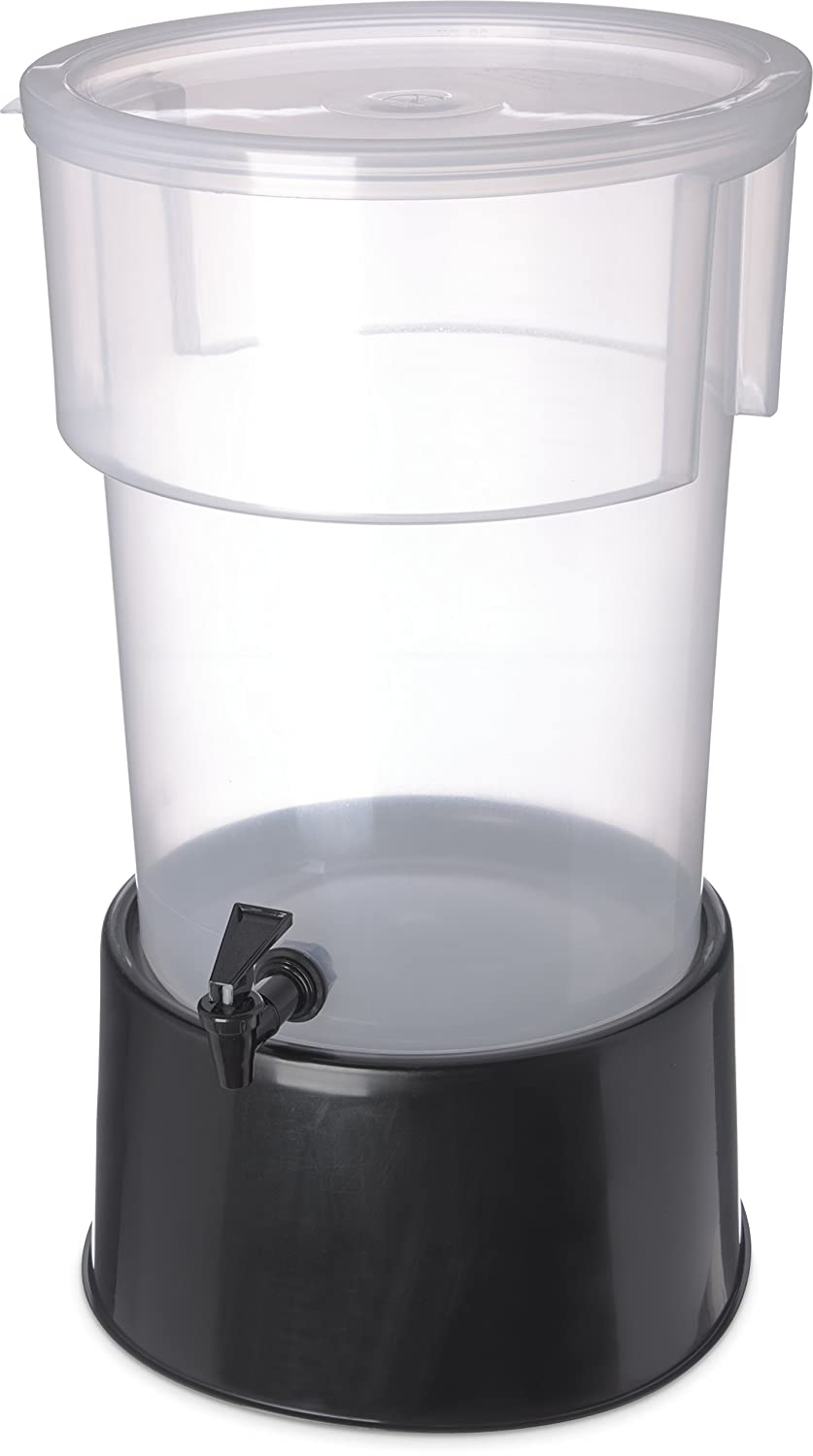 Carlisle 222903 Break-Resistant Beverage Dispenser with Base, 5 Gallon, Clear