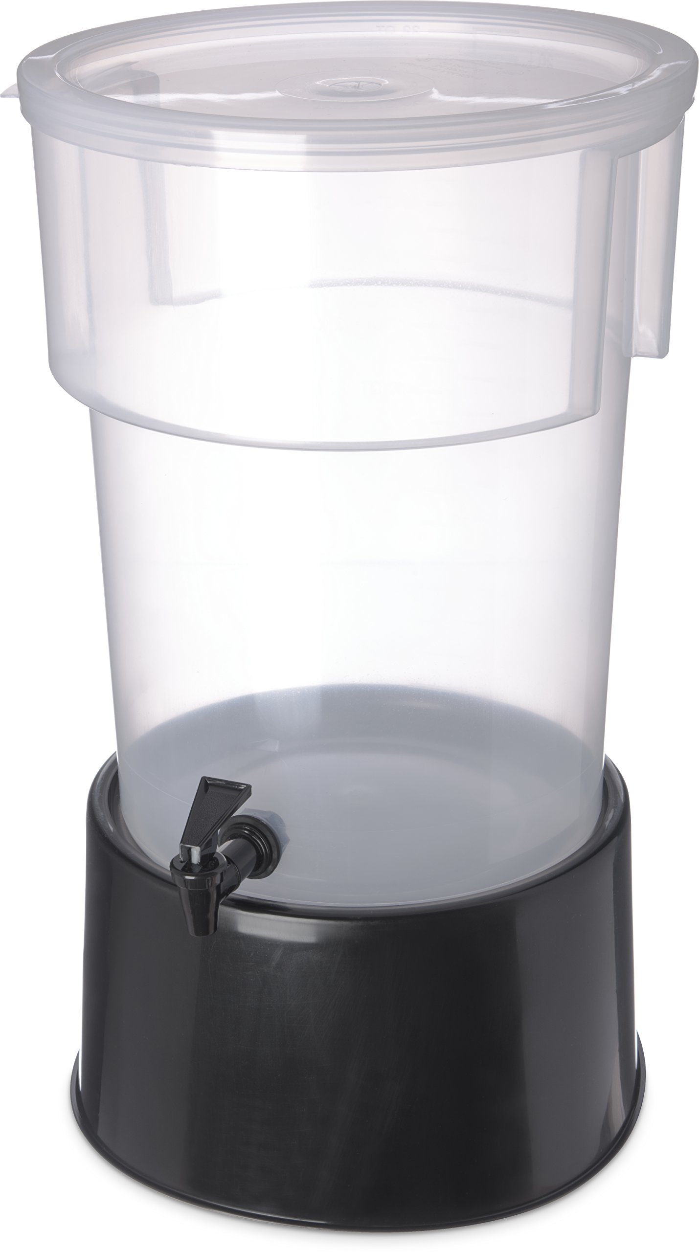 Carlisle 222903 Break-Resistant Beverage Dispenser with Base, 5 Gallon, Clear