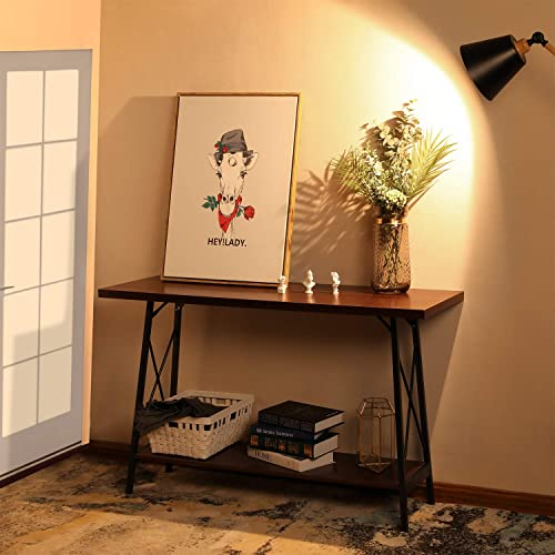 Console Table with storage Hallway Entryway Table with Sturdy Metal Frame Big Size 47.2 L x 17.7 W x 29.9 H inches Espresso for Living Room Entryway Hall