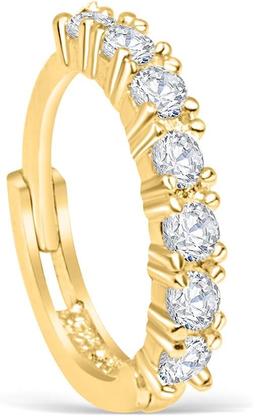 14K Gold Helix Earring Gold Tragus Earring Helix Hoop Earring 14K Gold Tragus Diamond Helix Earring Small Hoop Gold Earring