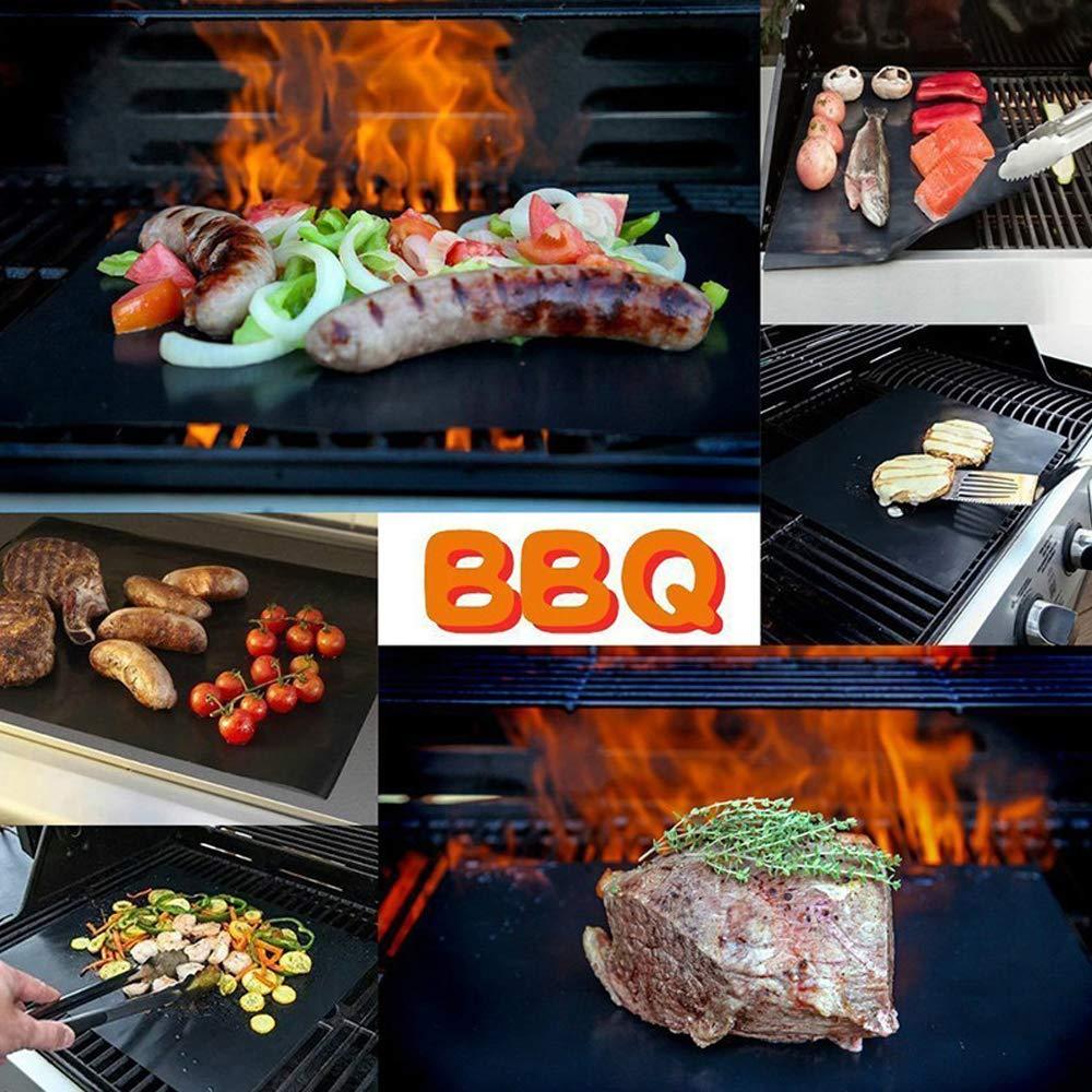 Estera para Parrilla, Chuangmeida Estera de Barbacoa Barbecue Grill Alfombras de cocina para hornear a gas carbón horno y parrillas eléctricas Láminas ...