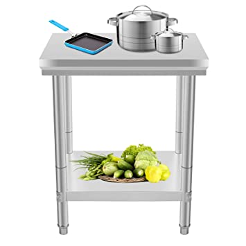 Moracle Mesa de Trabajo de Cocina Profesional 60x76x80cm Mesas de ...