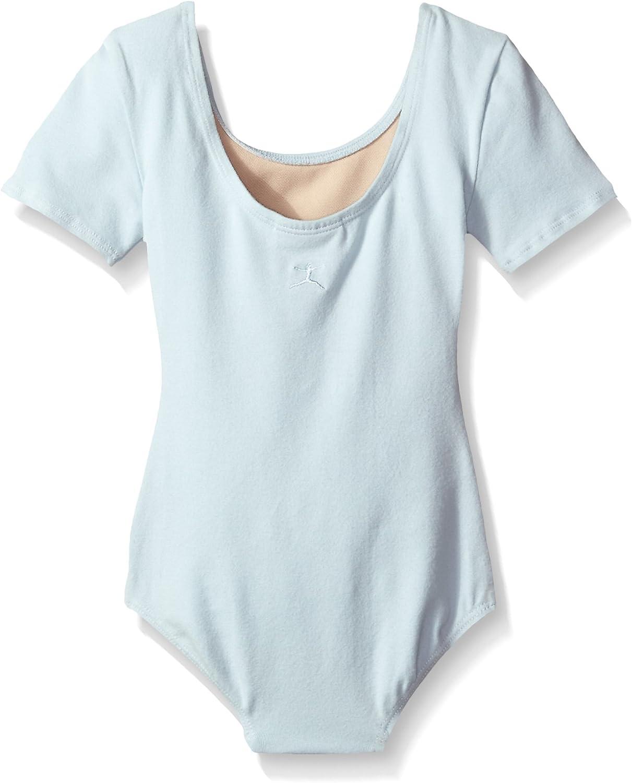 Danskin Girls Basic Cotton Short Sleeve Leotard