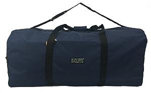 "Heavy Duty Cargo Duffel Large Sport Gear Drum Set Equipment Hardware Travel Bag Rooftop Rack Bag (42"" x 20"" x 20"", Navy)"