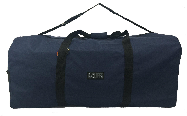K-Cliffs Heavy Duty Cargo Duffel Large Sport Gear Drum Set Equipment Hardware Travel Bag Rooftop Rack Bag 42 Inch Navy Blue