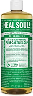 product image for Dr. Bronner's - Pure-Castile Liquid Soap (Almond, 32 ounce) - Made with Organic Oils, 18-in-1 Uses: Face, Body, Hair, Laundry, Pets and Dishes, Concentrated, Vegan, Non-GMO