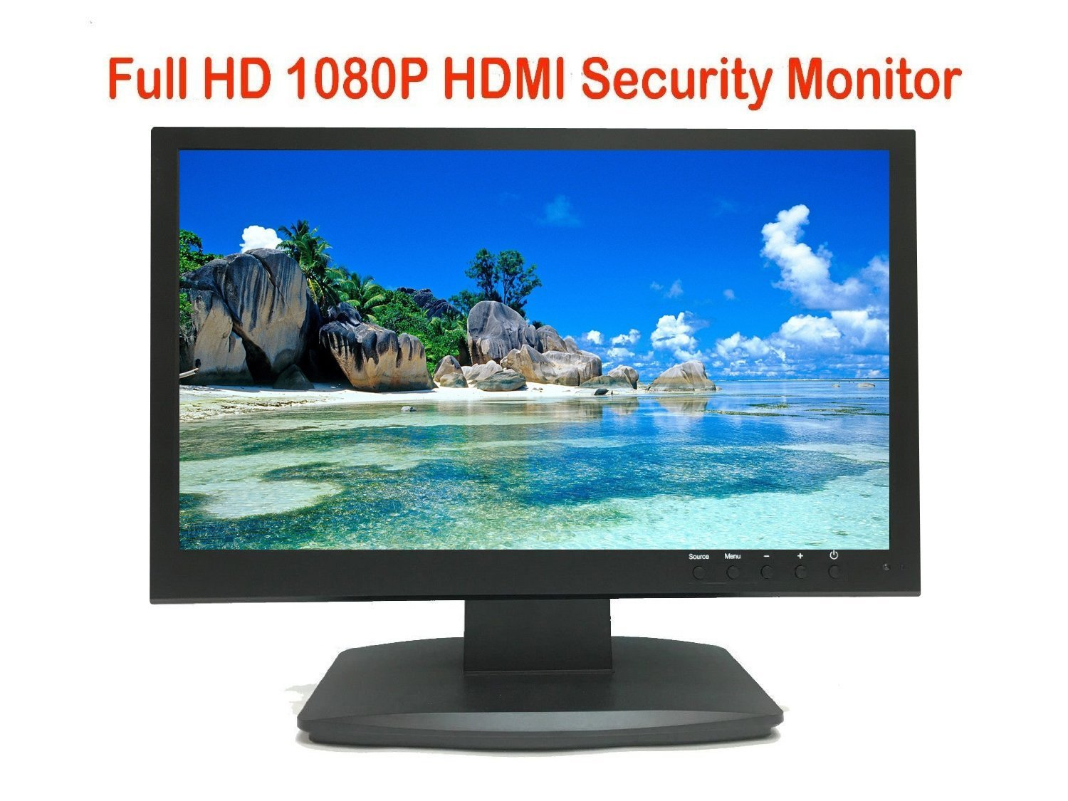 101AV Security Monitor 19.5 Inch True Full HD 1080P 1920x1080 3D Comb Filter HDMI VGA and Looping BNC Inputs Wide Screen PC Computer monitor for Home Office Surveillance optional monitor mount