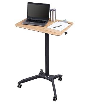 Carrito de escritorio neumático de altura ajustable para ordenador portátil: Amazon.es: Oficina y papelería