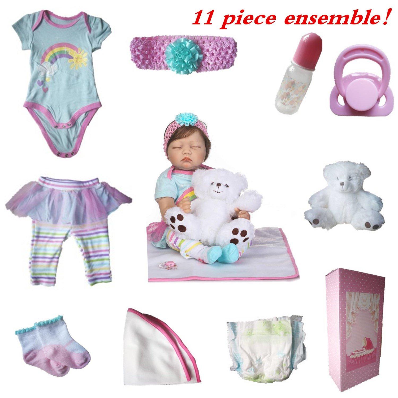 NPKDOLL Realista Reborn Baby Doll Recién Nacido bebé de Silicona ...