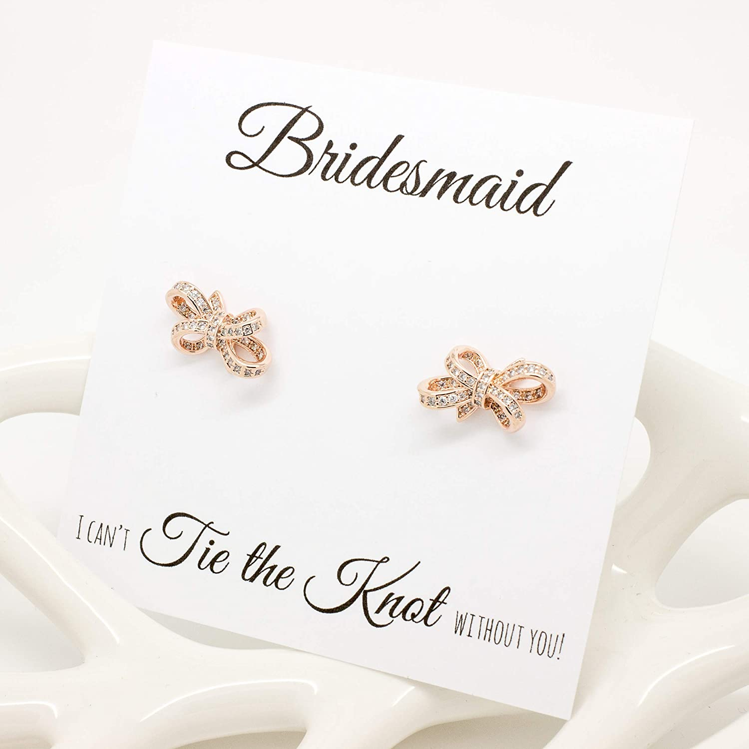 Bridesmaid Earrings Gift Bridesmaid Earrings Gold or any other Bridesmaid Earrings Set of 1-6 Bridesmaid Earrings Stone Earrings