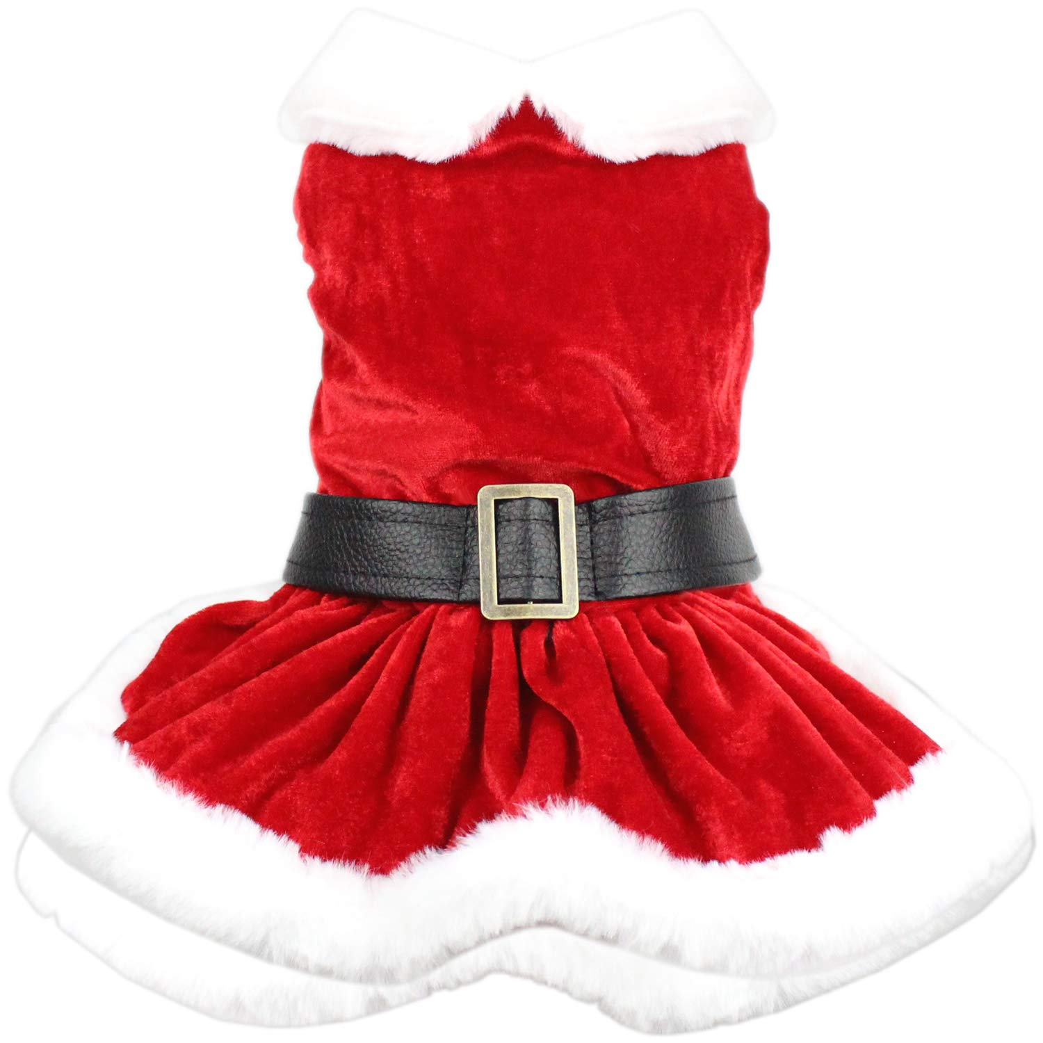 Parisian Pet Dog Cat Pet Xmas Holiday Christmas Mrs Claus Winter Dress, XL by Parisian Pet