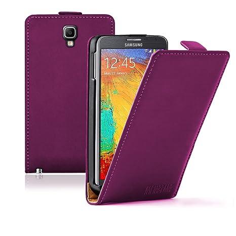 Membrane - Ultra Slim Morado Funda Carcasa Compatible para Samsung Galaxy Note 3 Neo (SM-N7505 Note 3 Neo LTE) - Flip Case Cover