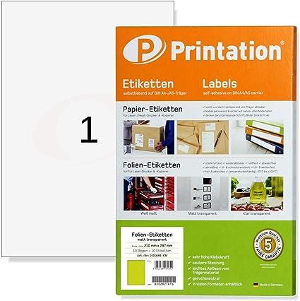 stampante per etichette adesive in carta stampante A4 stampabile per stampanti laser e inkjet Etichette Autoadesiva autoadesiva 75 fogli 210 x 297 mm