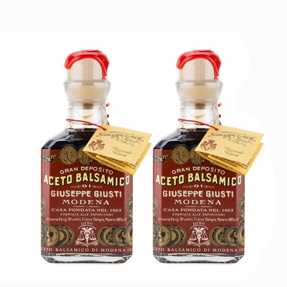Giuseppe Giusti - Gran Deposito Aceto Balsamico Di Giuseppe Giusti Moderna - Italian Balsamic Wine Vinegar 8.45 fl.oz. (250ml) - Pack of 2 by Giuseppe Giusti